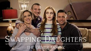 Innocent redheaded stepdaughter is lured into a taboo family foursome