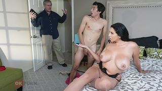 Geeky son didn't expect wild taboo sex with his magnificent busty mommy
