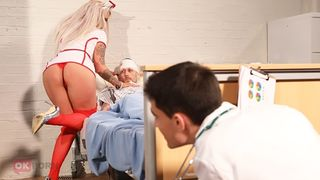 Son sneaks into the hospital for hardcore taboo sex with his slutty mom