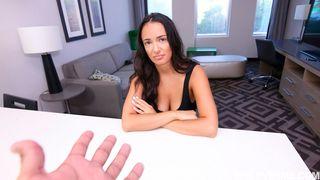 POV Stepsis Sex - Horny stud brings his step sister to a powerful orgasm