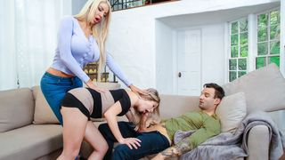 Shy stepdaughter needs her mom's taboo helps when it comes to a perv