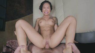 Porn cameraman never stops fucking bald XXX opening of his Asian sister