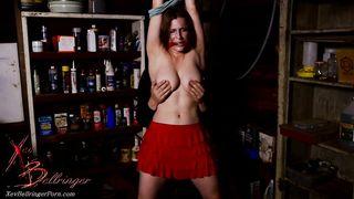 Bondage XXX Clip - Bound nympho Xev Bellringer gets her nipples massaged