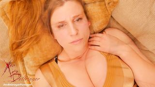 Nymphomaniac and busty mom Xev Bellringer plays with herself and cums hard