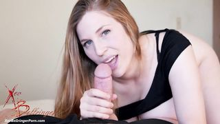 Beautiful amateur mom Xev Bellringer sucks thick dick with vigorous energy