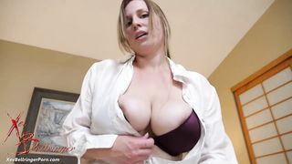 Big-titted doctor Xev Bellringer gives her patient special XXX treatment